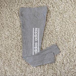 Adidas Heather Grey Logo Leggings